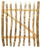 Nature LOUNGE Zauntor Haselnuss 100 x 90 cm - hochwertiges Gartentor für Staketenzäune - stabiles und witterungsbeständiges Holztor in 7 Größen