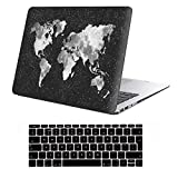 Cover MacBook Air 13 Costodia , iCasso Nebula WorldMap Ultra Sottile Plastica Rigida Shell Snap On Duro Case per MacBook Air 13 pollici (Modelli: A1369 / A1466)