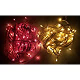 MTC Red And Yellow Colored Led Rice Light (Ladi) Decoration Lighting For Diwali ,Christmas 9 Meter Long Combo Pack