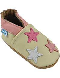 16292a539f50 Beautiful Soft Leather Baby Shoes with Suede Soles – Toddler Shoes – Infant  Shoes – Pre