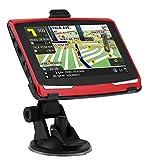 Ahomi Navigazione da auto da 5 pollici Portatile Navigatore GPS da 8 GB Navigatore GPS FM AV-IN con mappa