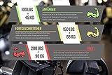 TWIVEE - Fingerhantel - Unterarmtrainer mit Griffpolster und Tasche - Gripper aus gehärtetem Stahl und Aluminium - Handtrainer - Handmuskeltrainer (Rot/Schwarz, 150 lbs = 68 kg - Fortgeschrittener) - 3