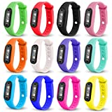 Kanpola Damen Herren Gummi LED Uhren Datum Sports Armband Digital Armbanduhr / Run Step Walking Distance Watch Schrittz�