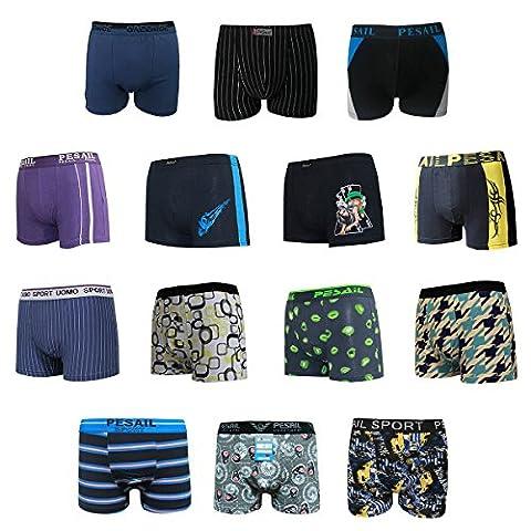 Boxers caleçons respirables en coton pour hommes - sous vêtements Mix Couleur/Style - Lot de 5-7 (M, Lot de 7)