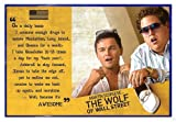 Close Up The Wolf of Wall Street Poster Awesome (63,5x94 cm) gerahmt in: Rahmen blau