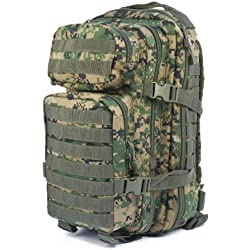 mochila Mil Tec US Assault de 20 L camuflaje Digital Woodland