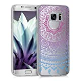 kwmobile Samsung Galaxy S7 Edge Hülle - Handyhülle für Samsung Galaxy S7 Edge - Handy Case in Blau Pink Transparent