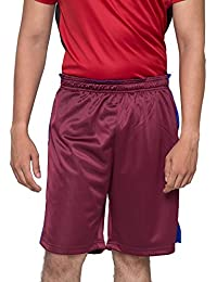 Acetone Solid Men's Running Shorts(USH2 - MAROON)