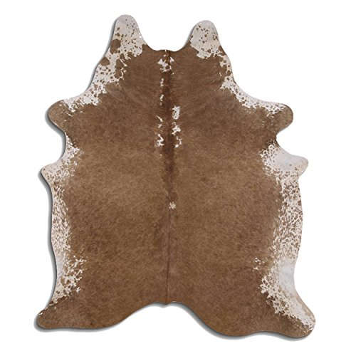 Goodsmania Premium Kuhfell-Teppich - L196 x B177 cm - Braun Grau - einmaliges Naturprodukt aus Südamerika
