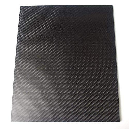 Pannello in fibra di carbonio 3K, 250 x 420 mm, pannello opaco in fibra di carbonio, spessore 0,5-5 mm, 2mm, 1