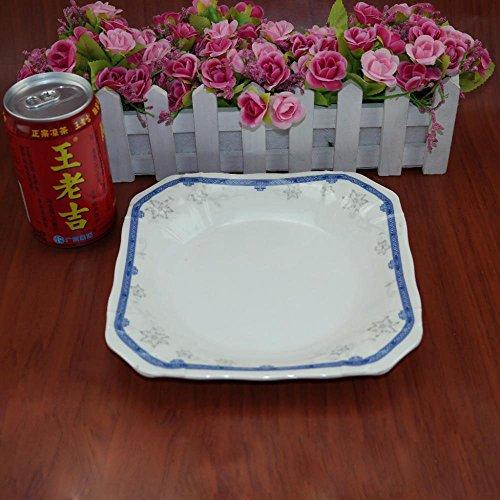 Daeou Carré vaisselle en mélamine mélamine couleur Quartet plat froid jeu de plaques chinois: un ensemble de deux