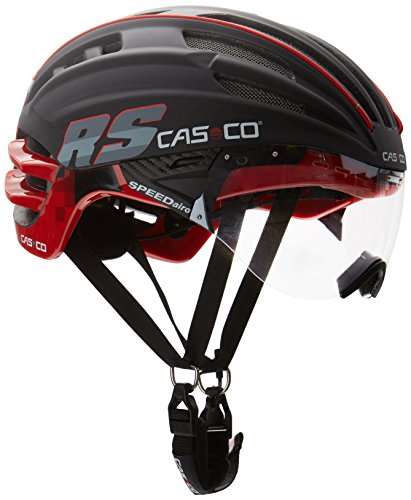 Casco Erwachsene Helm Speedairo RS, Schwarz/Rot, L, 16.04.1509. (Photochromatisch Visier)