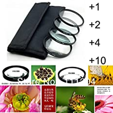 SHOPEE Branded 52mm Macro Close up Lens Filter Kit +1 +2 +4 +10 for Nikon 18-55mm 55-100mm 55-250mm D3000, D3100, D3200 with 4pocket Carry Pouch