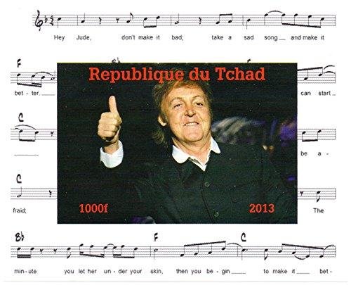 Preisvergleich Produktbild Die Beatles Briefmarken für Sammler - Paul McCartney Imperforate Miniatur-Briefmarkenbogens - Großartiger Zustand und frisch - 2013 / Tschad / 1000F