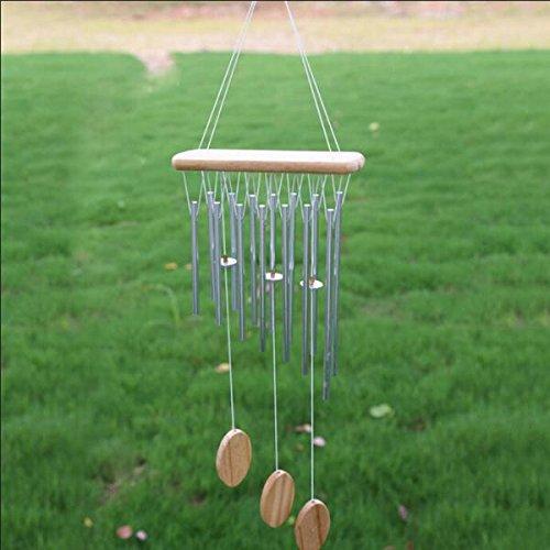 Silber 12 Röhren Metall Glocken Windspiel Im Freien Gartendekoration Geschenk Hängen - 4