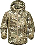 TACVASEN Camo Jacke Herren Wasserdicht Jagd Mountain Klettern Angeljacke Men's Sport Fleece Jacket Woodland