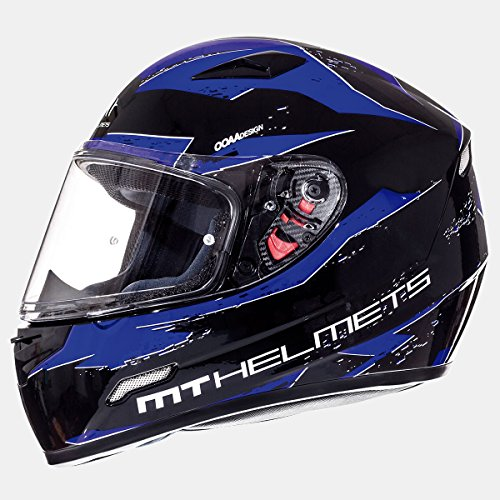 MT - Casco Integral MT MUGELLO Vapor Negro/Azul Talla L