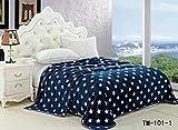 TIMA Top Class Star Print Double Light Weight Blanket,Blue