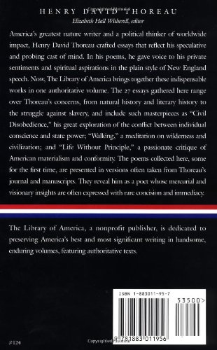 Henry David Thoreau: Collected Essays (Library of America)