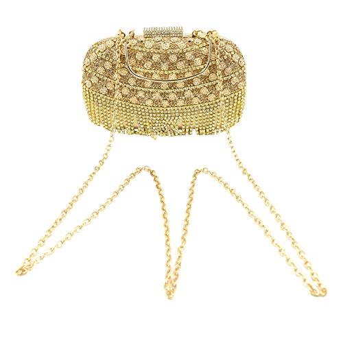 Mode Yanbao Diamant Rose Diamond quaste Taschenmode Bankettabendessen Tasche tragen die Braut Golden