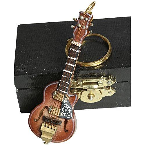 """Schlüsselanhänger \""""Western Gitarre\"""" im Kästchen 7cm"""