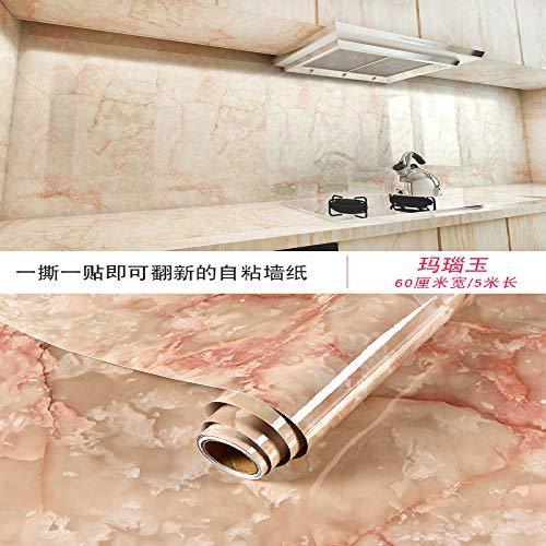 Armadietto da scrivania armadio da scrivania nastro di marmo carta da parati impermeabile carta da parati autoadesiva 0.6m * 5m giada agata 60 cm * 5 m