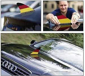 Deutschland-Fanflosse fürs Auto – magnetisch, DER Hingucker, made in Germany & DEKRA geprüft bis 180km/h