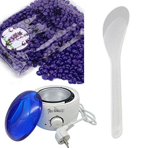 Hairless Multifunktionswärmer Heater Pot Skin Care Machine & Wiping Stöcke & Depilatory Haarentfernung Wachs Bohne (Lavendel)