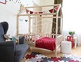 Sweet Home Montessori Kinderbett mit Beinen und Zaun