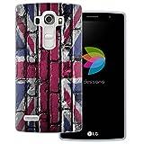 dessana England Transparente Silikon TPU Schutzhülle 0,7mm dünne Handy Tasche Soft Case für LG G4 (Mini) England Flagge