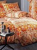 Bassetti Grandfoulard.- Bettwäsche Caltagirone V1 Orange, 220x220 +40 cm + Spannbettücher 135x200 + 1 kissenbezug 45x145 cm in