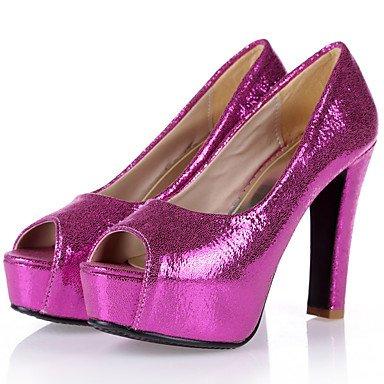 Talloni delle donne Primavera Estate Autunno Club pattini della festa nuziale sintetica e abito da sera tacco grosso paillettes blu Silver Gold Rose Pink Gold