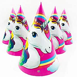 Partymane Party Favour Children's Birthday Party Unicorn Paper Hat, Paper Hat Set - Paper Hats 10 Pcs
