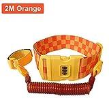 Bebé 2m anti-lost cinturón  Yigo ajustable niño seguridad anti perdido cintura/cintura Link Bungee correa con seguridad 3Dail contraseña Lock arnés infantil para niños naranja naranja