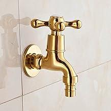 tourmeler piastra di oro bagno lavatrice rubinetto acqua fredda bagno rubinetteria bagno rubinetto rubinetto finitura dorata rubinetto giardino lottone