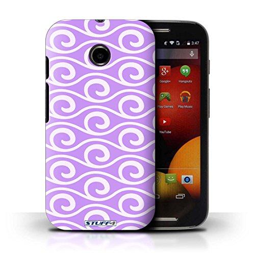 Kobalt® Imprimé Etui / Coque pour Motorola Moto E (2014) / Rose conception / Série Motif ondes chic Violet