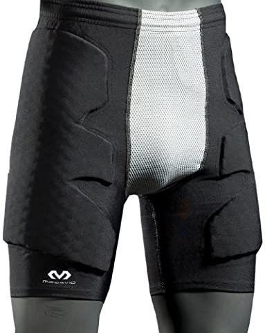 McDavid Hex Pro Style Men's Goalkeeper Shorts Guard II black/grey Size:M