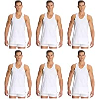 Jockey's Men's Modern Classic Cotton Vest (White, Medium/90-95 cm) - Pack of 6