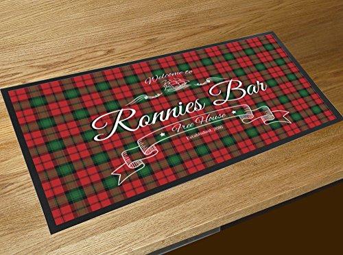 Tartan Scottish Bar Burns Night Name personalisiert (Personalisierte Tischläufer)