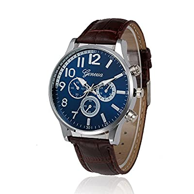 Absolute Cheap!!! But Looks Really Expensive Mens Dress Watch- Fashion Simple Analog Watch Dial Quartz Crocodile Faux Leather : everything £5 (or less!)