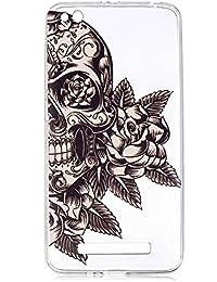 Xiaomi Redmi 4A Hülle, BONROY® Ultra Schlank TPU Schutzhülle für Xiaomi Redmi 4A, Painted muster Weiche TPU Silikon Back Cover Etui Schutzhülle Kratzfeste Stoßdämpfende Protective Bumper für Xiaomi Redmi 4A - Totenkopf