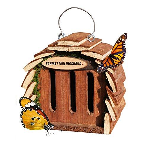 #Gardigo Schmetterlingshaus zur Schmetterlingszucht und Gartendeko naturholzfarben#