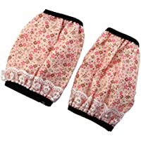 sourcingmap® Floral Pattern Lace Decor Anti Dust Reusable Sleevelet Oversleeve Arm Protector Cover Sleeve Pair