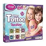 Tytoo Funshine Glitzertattooset, mit 55 Schablonen - Hypoallergen, ohne Tierversuche hergestellt – für 8–18 Tage, temporäre Tattoos