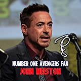 Robert Downey Jr - Iron Man - Tony Stark - Avengers Endgame 3 Personalised Gift Print Mouse Mat Autograph Computer Rest Mouse Mat Compatible with Laser and Optical Mice (No Personalised Message)