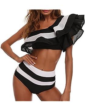 juqilu Mujeres Sexy Un hombro con volantes Body traje de baño Mono de una pieza Monokini traje de baño de baño...