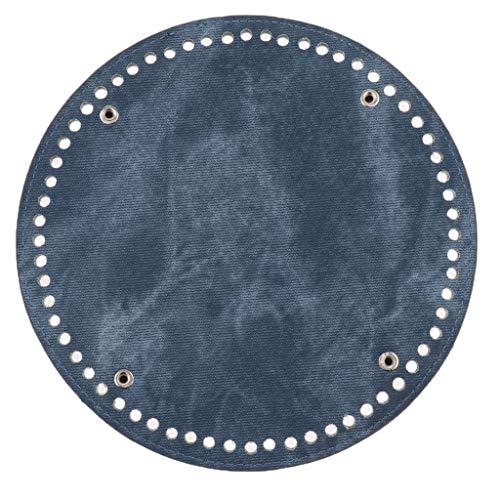 IPOTCH 64 Löcher Nageltasche Bottom Shaper Bag Kissen Pad für DIY Schultertasche Umhängetasche Tote, Denim-Stoff - Denimgrau (Kissen-insert-runde)