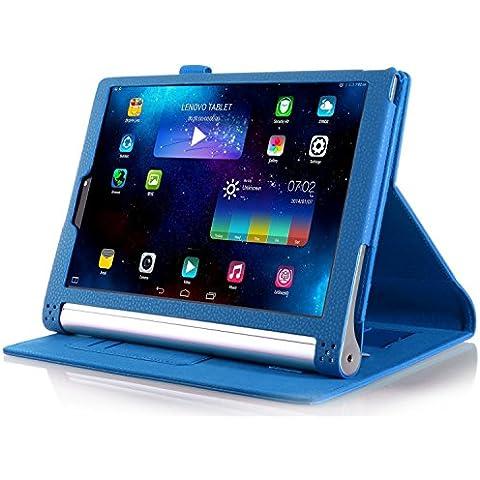 ELTD Lenovo Yoga Tab 3 Pro cover, Book-style Funda de piel de cuerpo entero para Lenovo Yoga Tab 3 Pro 10.1-inch con la función del sueño / despierta, Azul