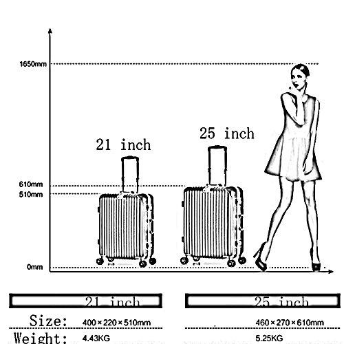Aluminiumrahmen PC Trolley Aluminiumlegierungsstab Gepäck Reisebox Caster Koffer ( Farbe : 3 , größe : 25 inch ) 3