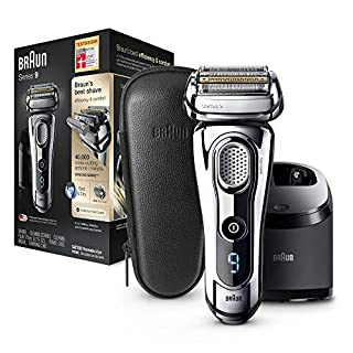 Braun Series 9 9296cc Elektrorasierer, Wet und Dry-Funktion, mit Reinigungs- und Ladestation, Premium-Reise-Etui, chrom (B01IN8LBS0) | Amazon Products